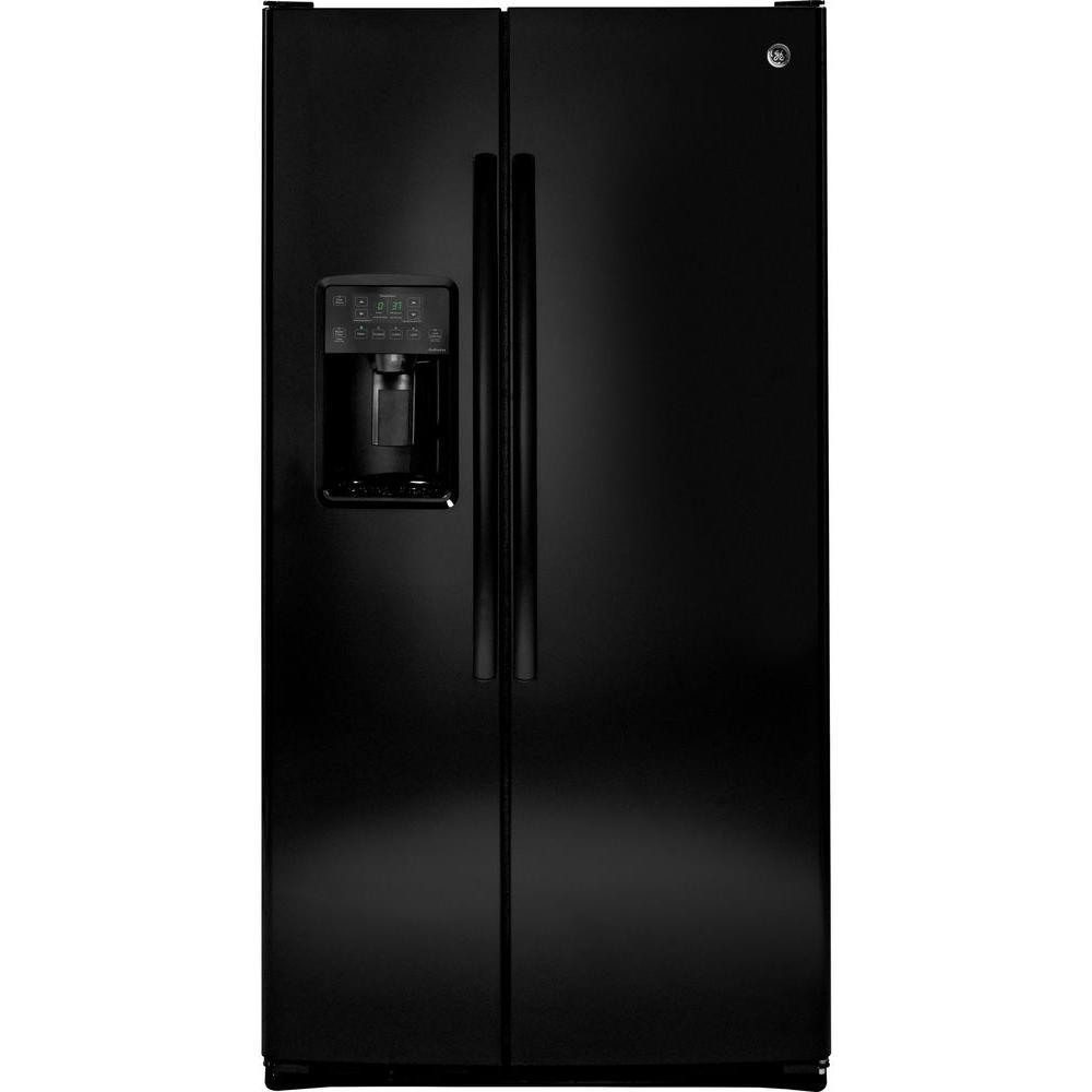 GE Adora 25.9 cu. ft. Side by Side Refrigerator in Black