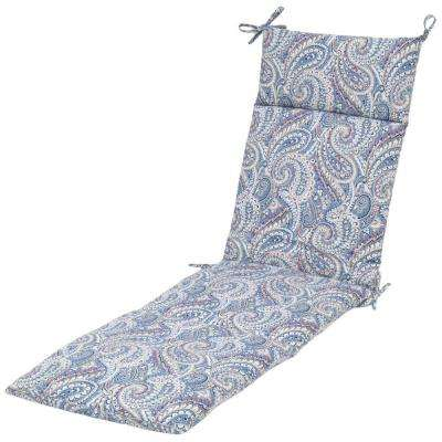 Nessa Paisley Outdoor Chaise Cushion