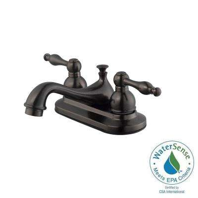 Saratoga 4 in. Centerset 2-Handle Bathroom Faucet in Brushed Bronze
