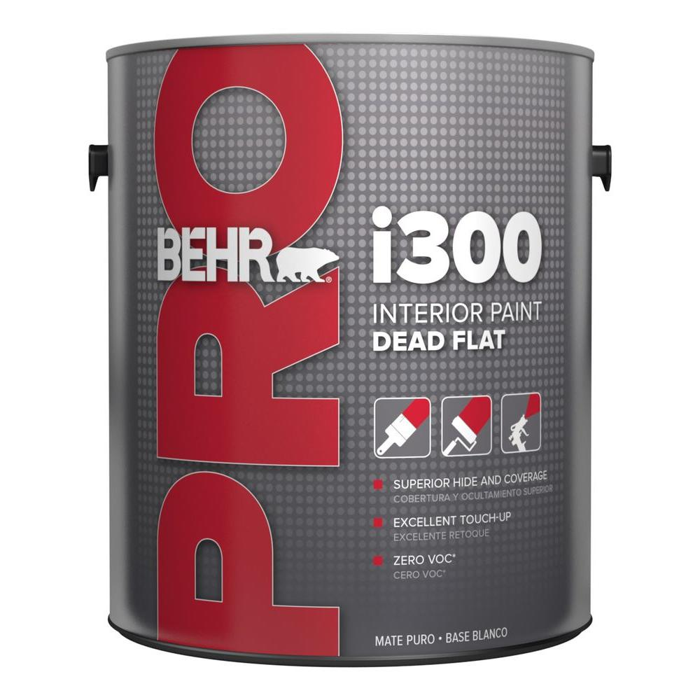 Amazing BEHR PRO 1 Gal. I300 Medium Flat Interior Paint PR31401   The Home Depot