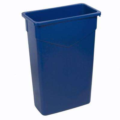 TrimLine 23 Gal. Blue Rectangular Trash Can (4-Pack)
