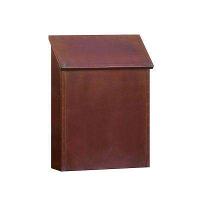 4400 Series Antique Brass Standard Surface-Mounted Vertical Mailbox