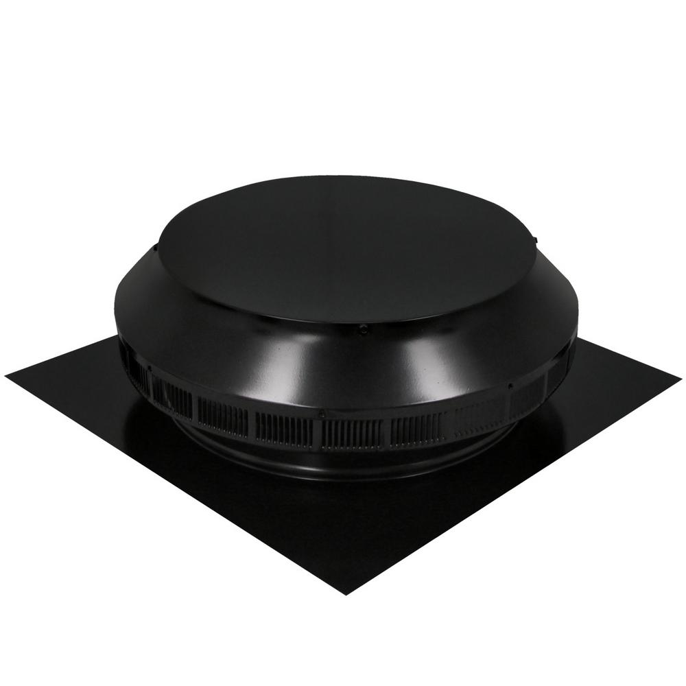 Active Ventilation 14 in. Dia Aluminum Roof Louver Exhaust Vent in Black Powder Coat