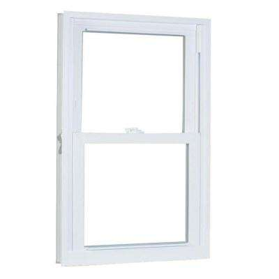 27.75 in. x 41.25 in. 70 Series Pro Double Hung White Vinyl Window with Buck Frame