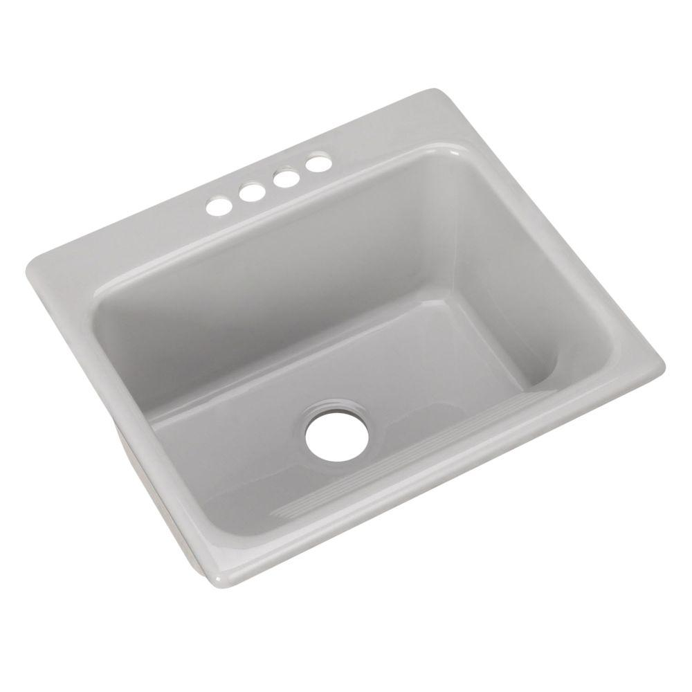 4 Hole Single Bowl Utility Sink In
