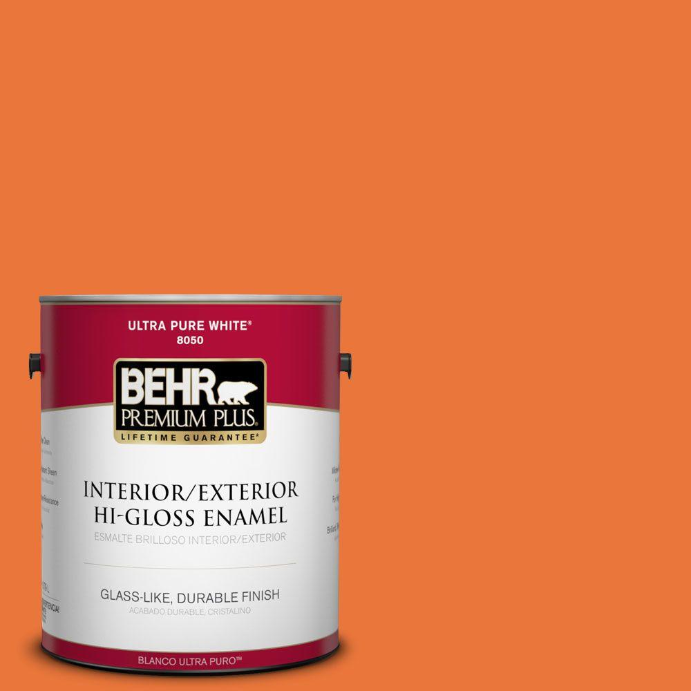 BEHR Premium Plus Home Decorators Collection 1-gal. #HDC-MD-27 Tart Orange Hi-Gloss Enamel Interior/Exterior Paint