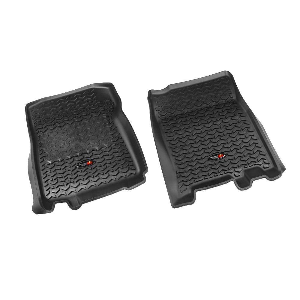 Rugged Ridge Floor Liner Front Pair Black 1997-2003 Ford F150