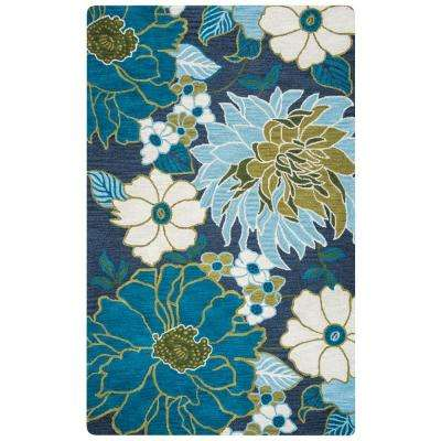Luniccia Navy Hand Tufted Wool 9 ft. x 12 ft. Area Rug