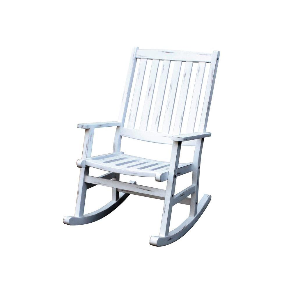 Home Styles Bali Hai White Patio Rocking Chair