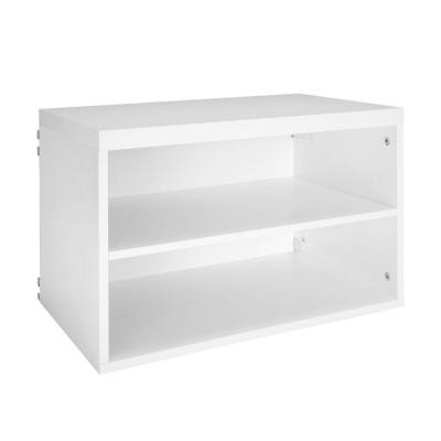 Elite 23.60 in. x 14.67 in. 2-Cube Shelf Organizer in White