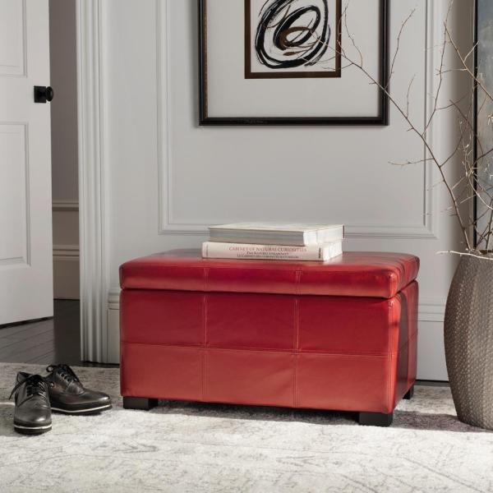 Safavieh Kerrie Red Storage Bench HUD8230R