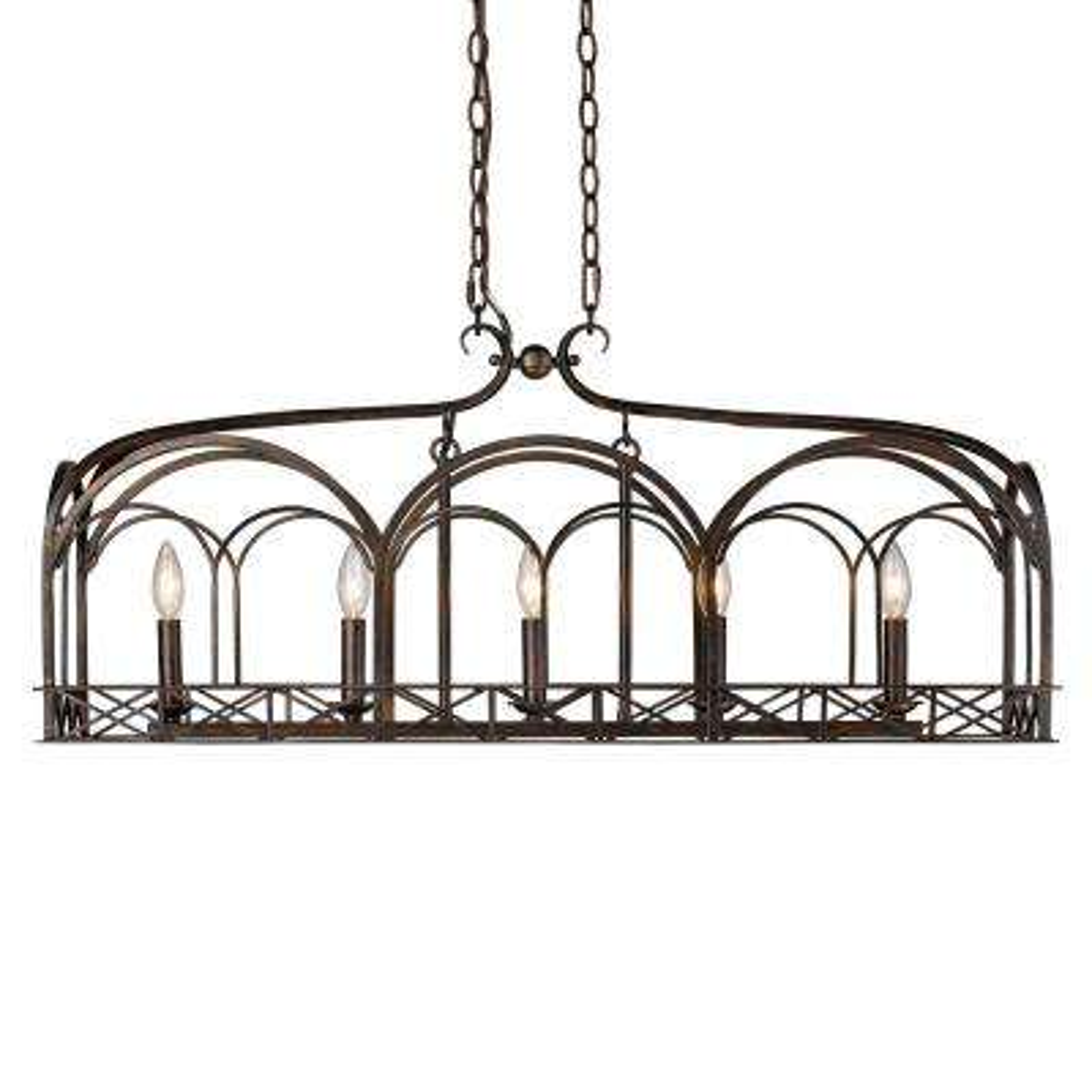 Gateway 5-Light Fired Bronze Pendant