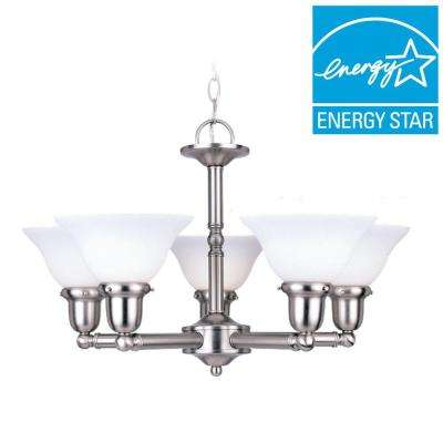 Sussex 5-Light Brushed Nickel Chandelier