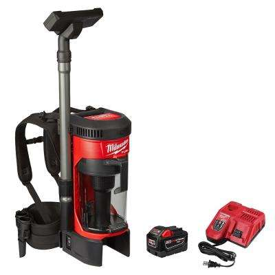 M18 Fuel 18-Volt Lithium-Ion Brushless Cordless 1 Gal. 3-in-1 Backpack Vacuum Kit and One 9.0 Ah Battery and Accessories