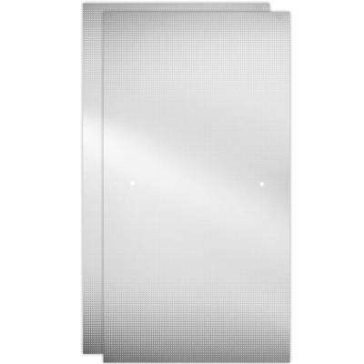 48 in. Sliding Shower Door Glass Panels in Droplet (1-Pair)