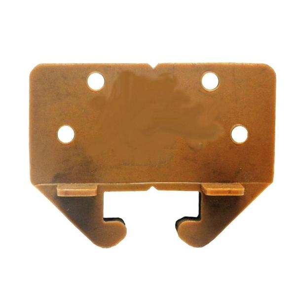 1.6 in. Brown Plastic Drawer Track Guide (2-Pack)