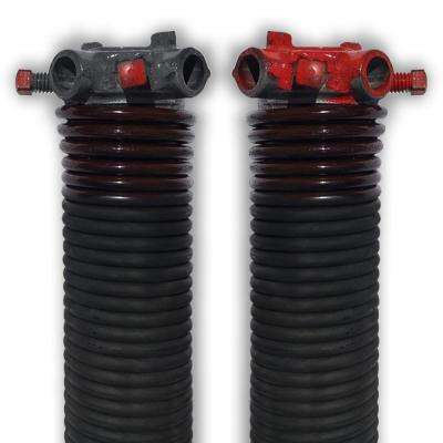 0.234 in. Wire x 2 in. D x 31 in. L Torsion Springs in Brown Left and Right Wound Pair for Sectional Garage Doors