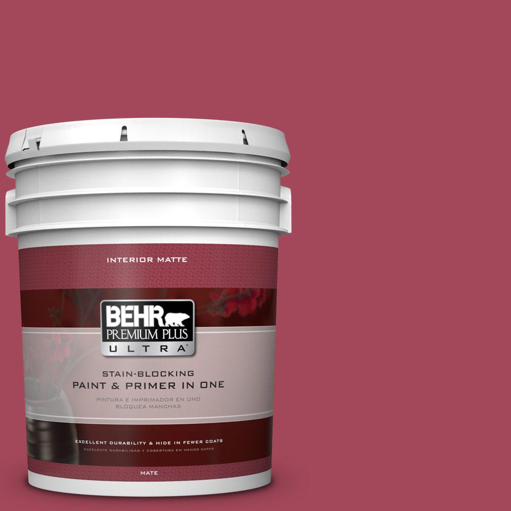 5 gal. #130D-6 Sweet Spiceberry Matte Interior Paint and Primer in