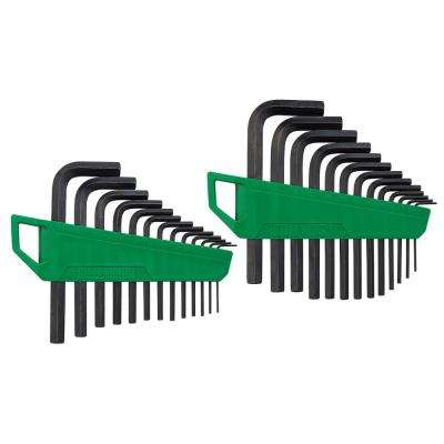 SAE & Metric Hex Key Set (26-Piece)