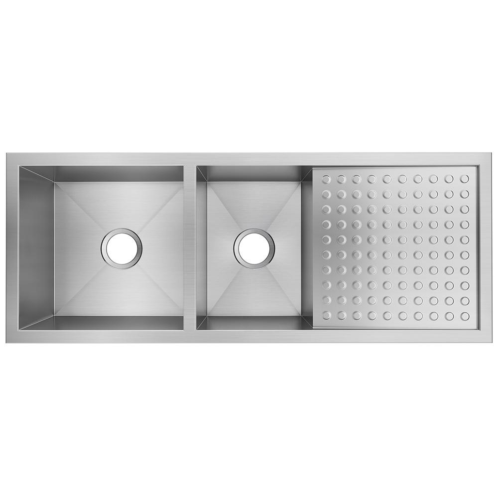 Elkay Crosstown Undermount Stainless Steel 47 In Double Bowl