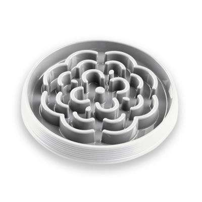 Slow Chow Medallion Large Feeder in White