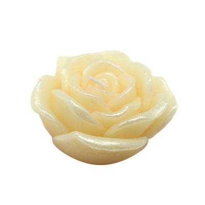 3 in. Ivory Rose Floating Candles (12-Box)