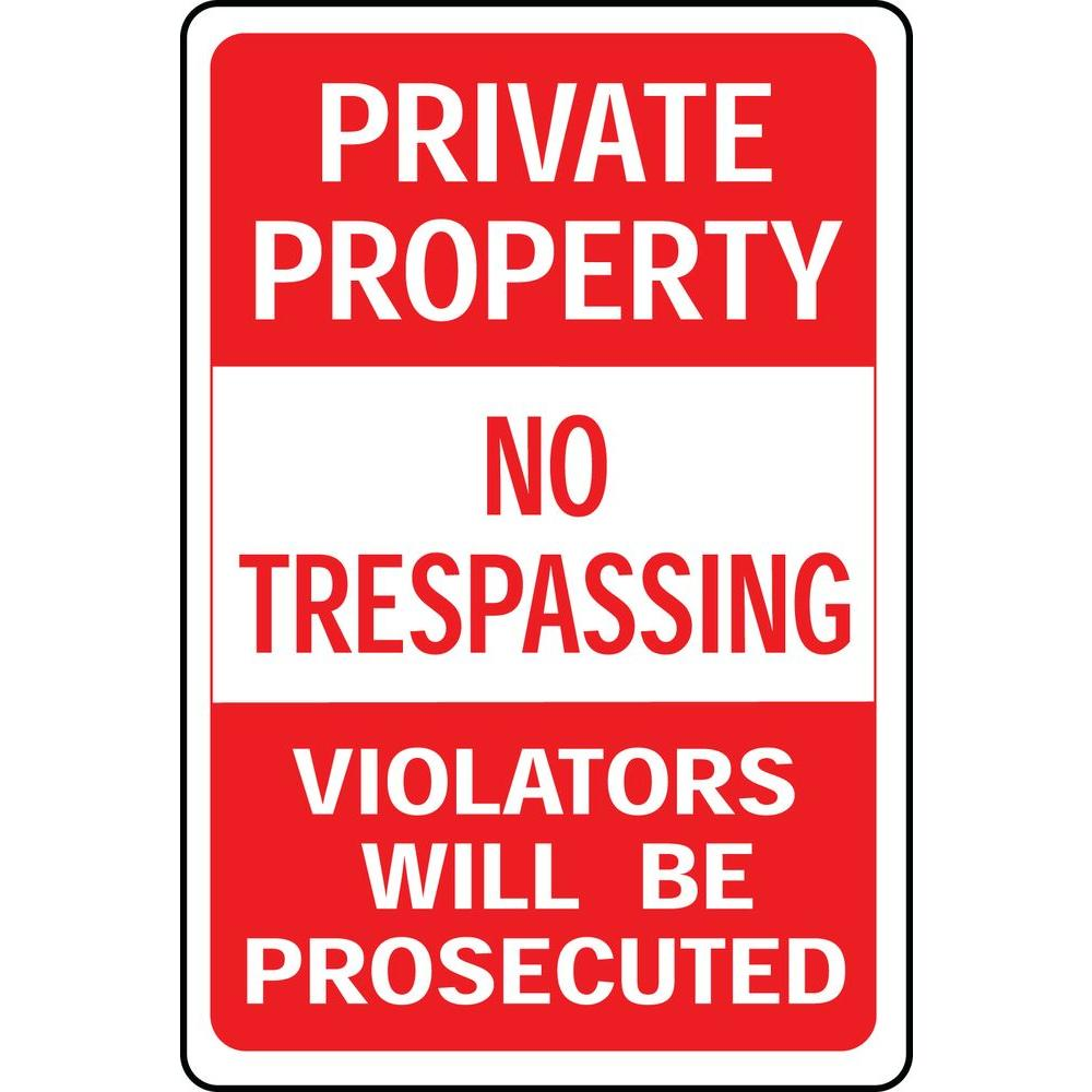 It is a picture of Wild Printable No Trespassing Signs
