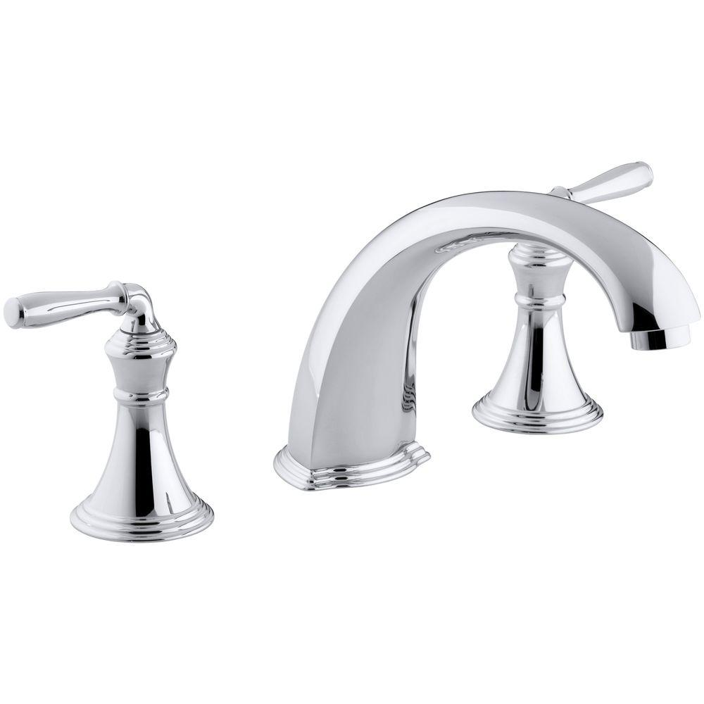 kohler roman tub faucet with hand shower. KOHLER Devonshire 2 Handle Deck and Rim Mount Roman Tub Faucet Trim Kit in  Oil Rubbed Bronze Valve Not Included K T398 4 2BZ The Home Depot