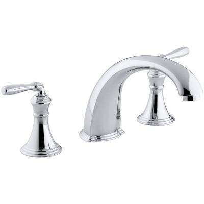 Devonshire 2-Handle Deck and Rim-Mount Roman Tub Faucet Trim Kit in Polished Chrome (Valve Not Included)