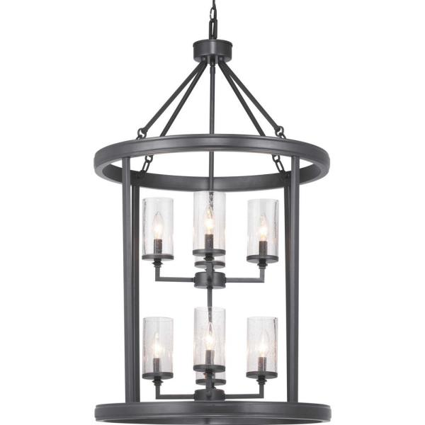 Gresham 8-Light Graphite Pendant