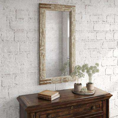 Sonali 36 in. x 18 in. Farmhouse Wall Mirror