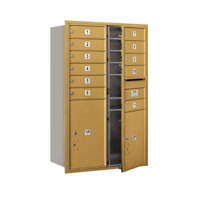 3700 Horizontal Series 11-Compartment with 1-Parcel Locker Recessed Mount Mailbox