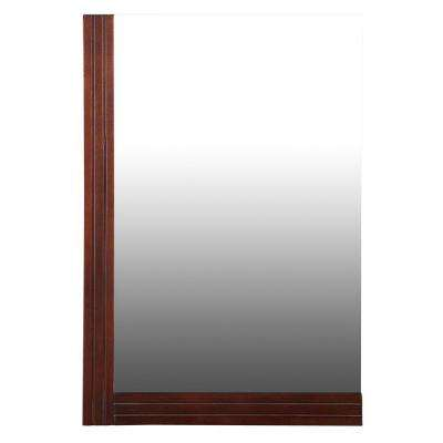 Ellis 25 in. x 17 in. Wall Mirror in Dark Walnut