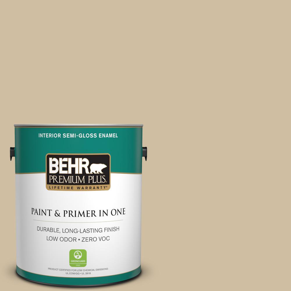1-gal. #S320-3 Final Straw Semi-Gloss Enamel Interior Paint