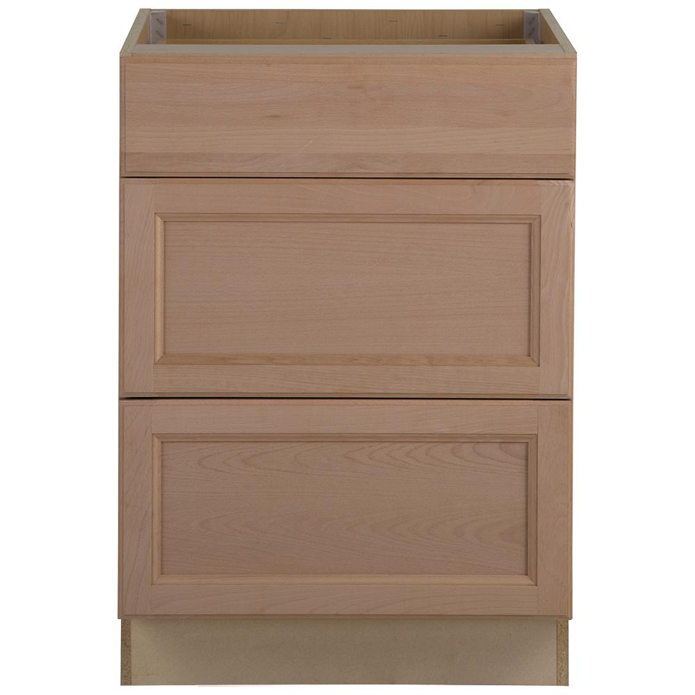 Hampton Bay Assembled 24 In X 345 2463 Easthaven Base Unfinished Cabinet Drawers B34