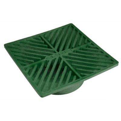 6 in. Plastic Square Drainage Grate in Green