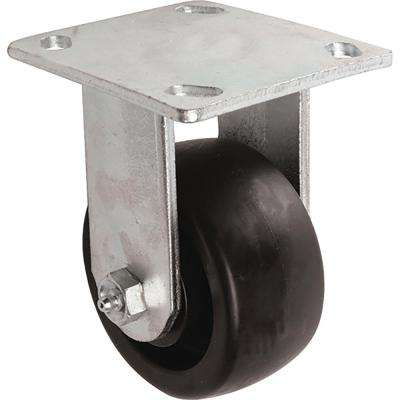 4 in. Poly Rigid Caster with 400 lb. Load Rating