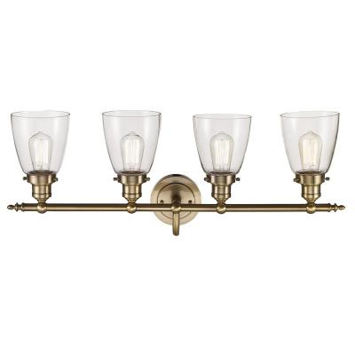 Norrell 4-Light Brushed Gold Bath Light