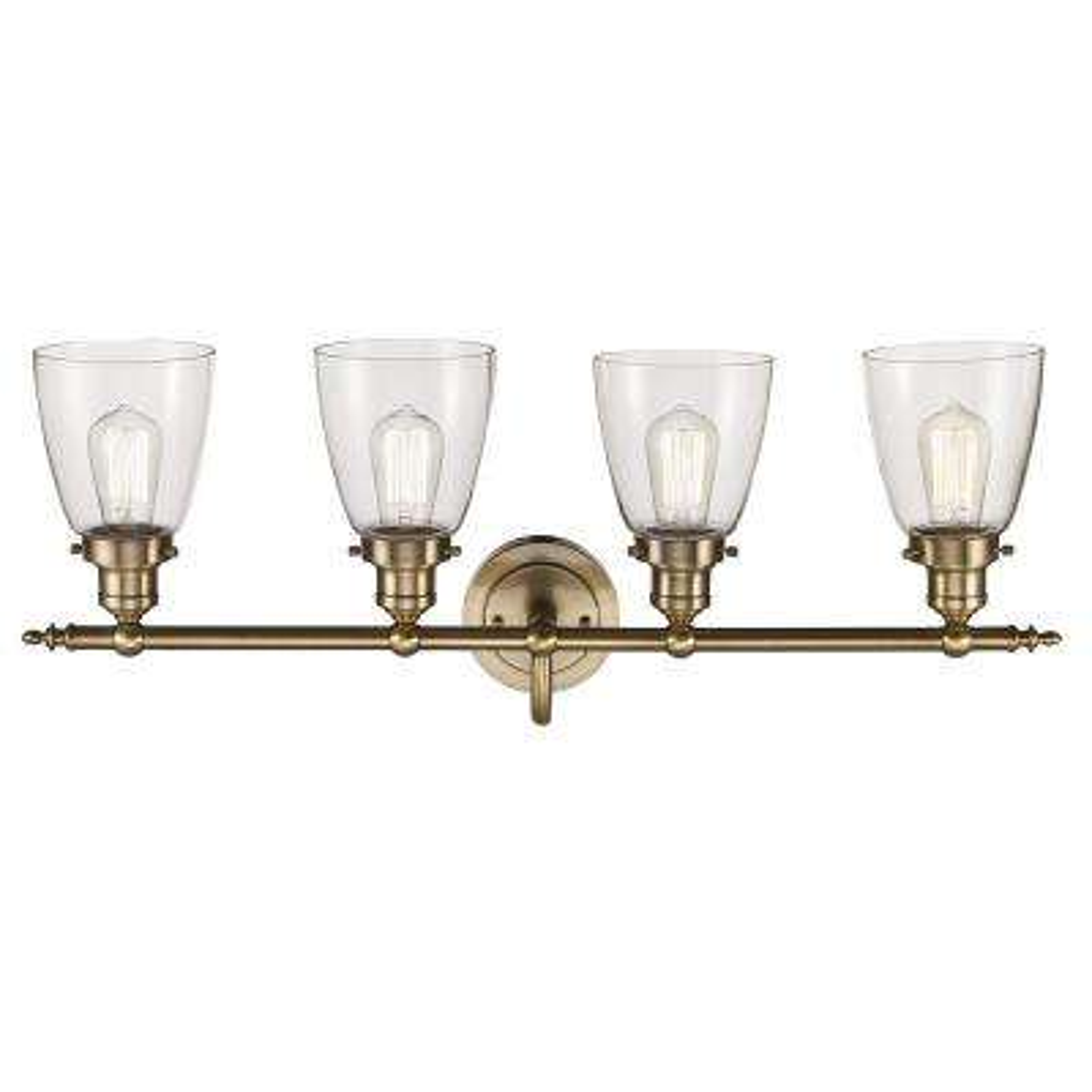 Norrell 4-Light Brushed Gold Bath Light