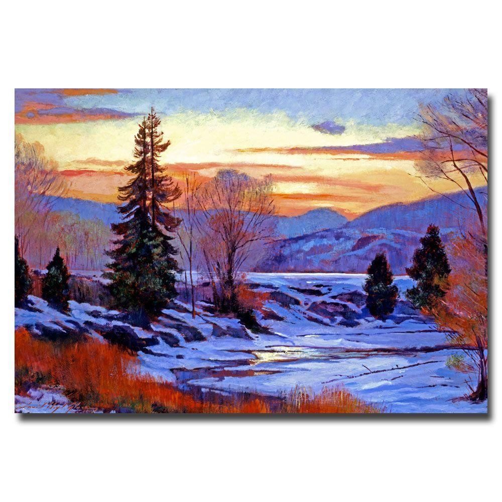 22 in. x 32 in. Early Spring Daybreak Canvas Art