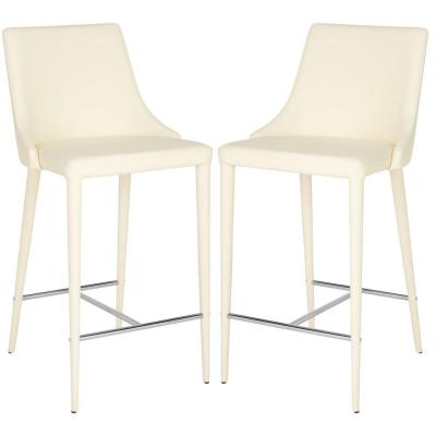 Summerset 26 in. Buttercream Cushioned Bar Stool (Set of 2)