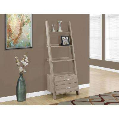 Dark Taupe Storage Open Bookcase