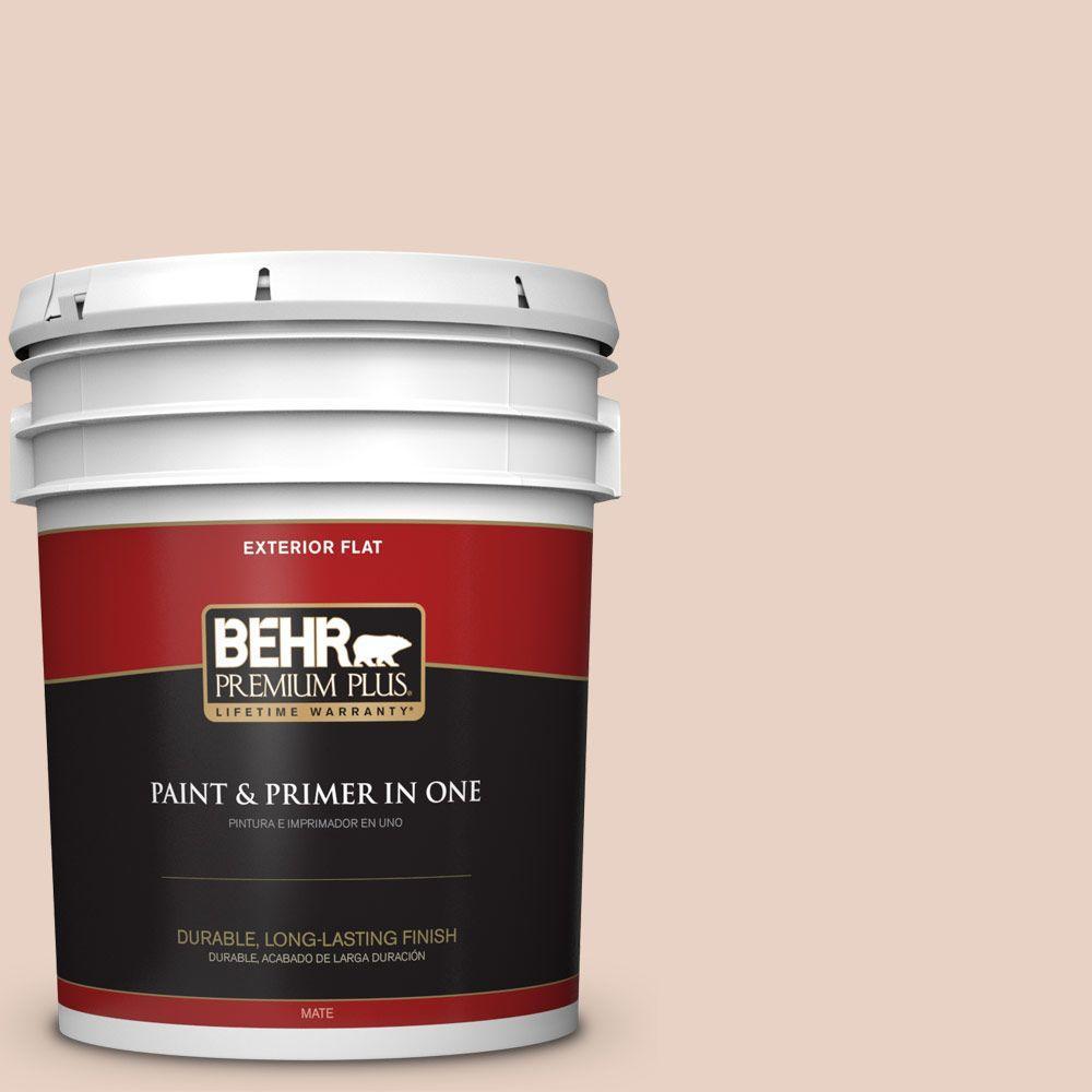BEHR Premium Plus 5-gal. #S200-1 Conch Shell Flat Exterior Paint