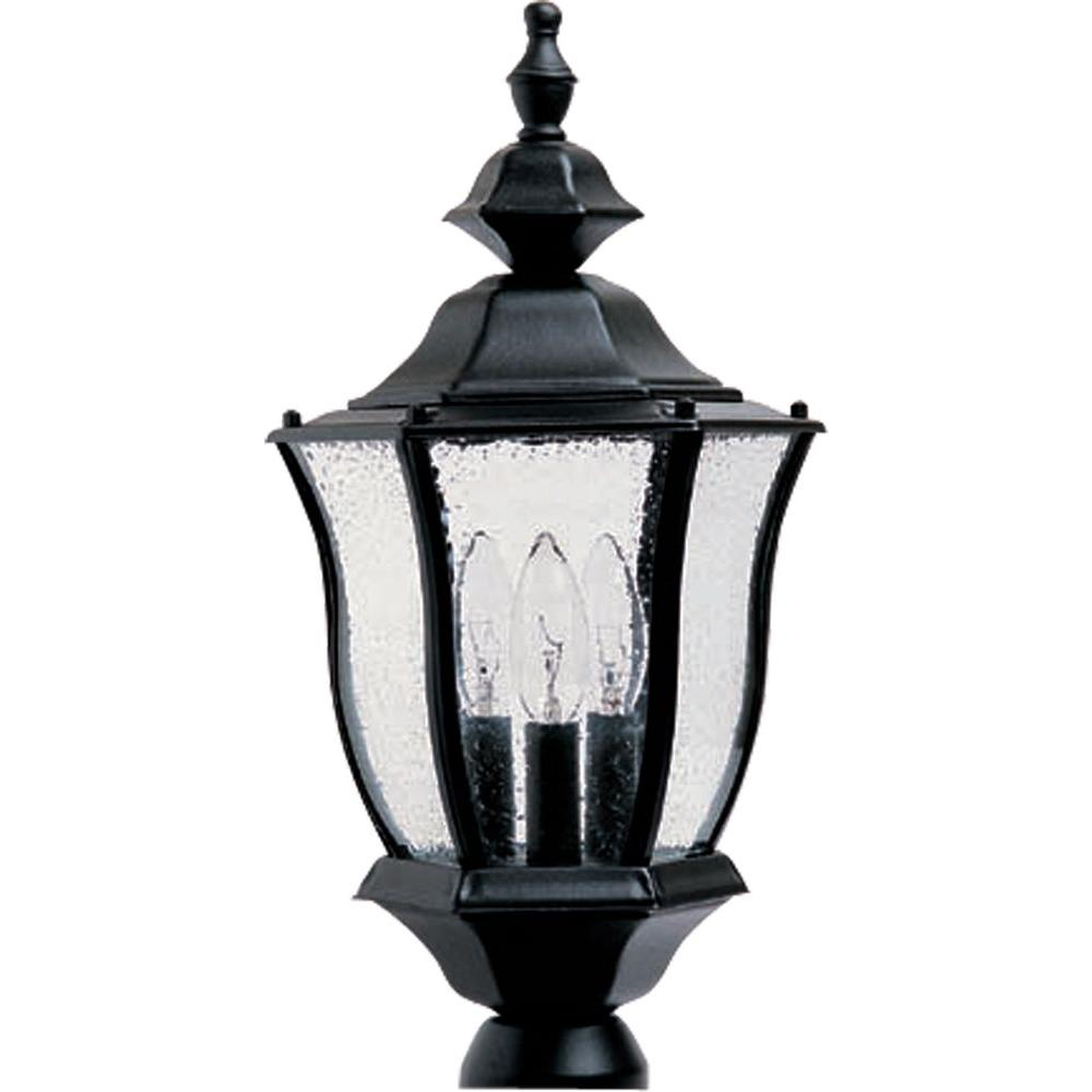 Maxim Lighting Madrona 3-Light Black Outdoor Pole/Post Mount Maxim Lighting's commitment to both the residential lighting and the home building industries will assure you a product line focused on your lighting needs. With Maxim Lighting accessories you will find quality product that is well designed, well priced and readily available. Maxim has fixtures in a variety of styles, and a strong presence in the energy-efficient lighting industry, Maxim Lighting is the clear choice for quality lighting.