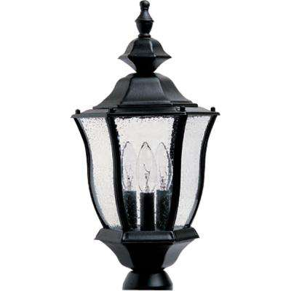 Madrona 3-Light Black Outdoor Pole/Post Mount