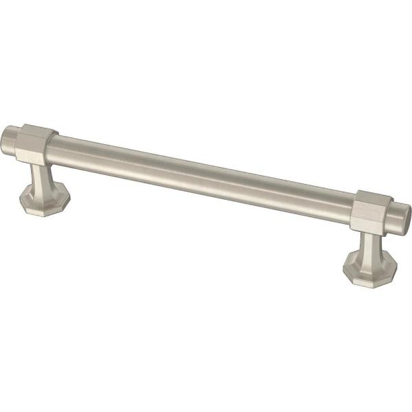 Classic Octagon 5-1/16 in. (128 mm) Satin Nickel Drawer Pull
