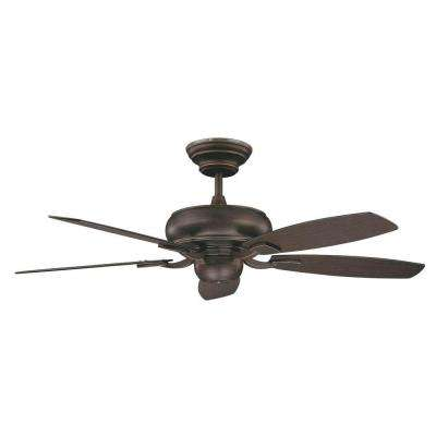 Roosevelt Series 52 in. Indoor Oil Rubbed Bronze Ceiling Fan