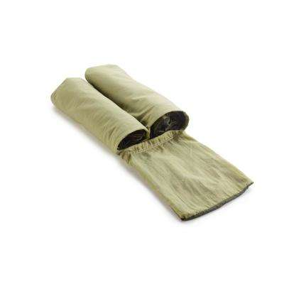 6-1/2 ft. Nylon Bag Hammock in Olive/Khaki with Mosquito Netting