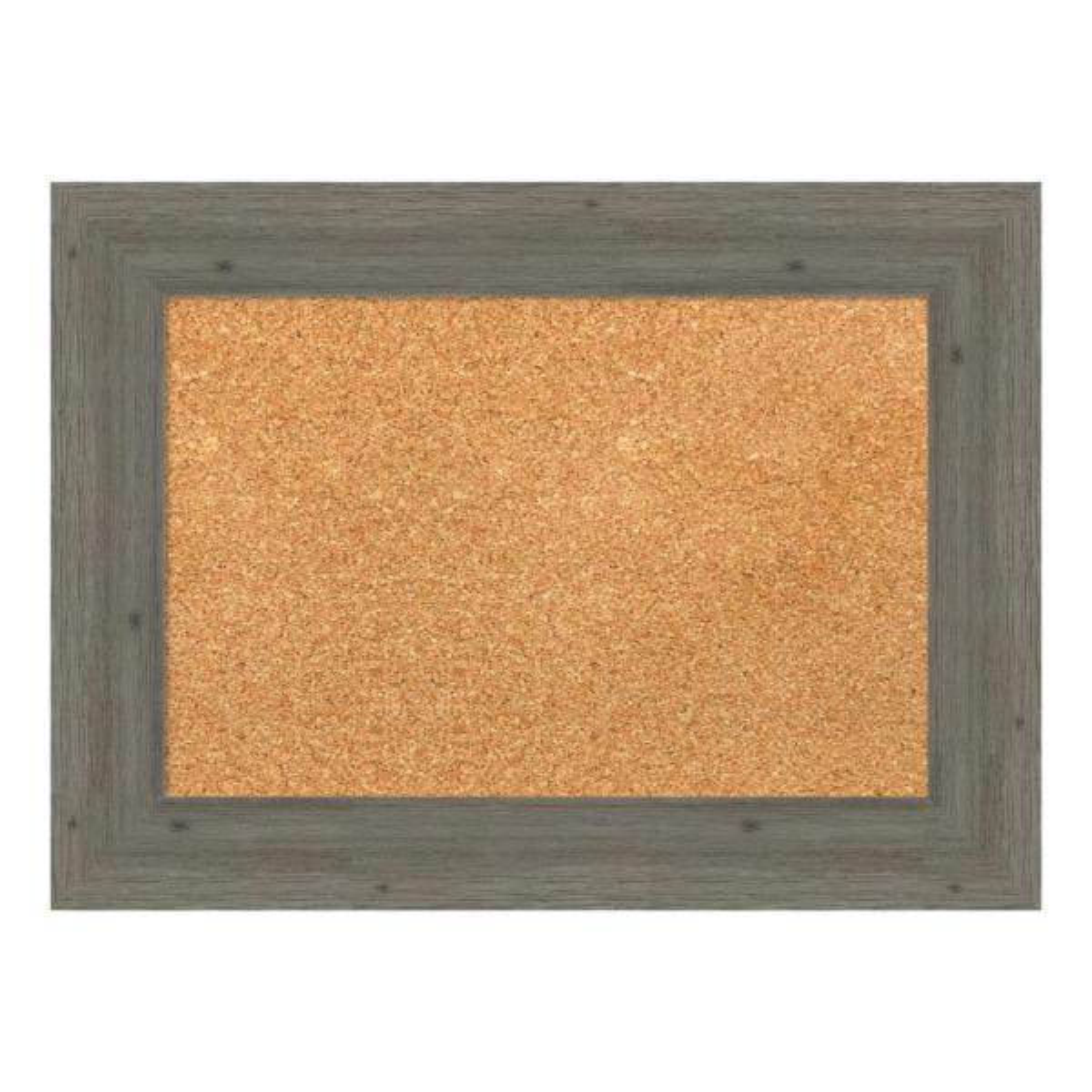 Amanti Art Fencepost Grey Narrow Framed Cork Memo Board DSW4094357