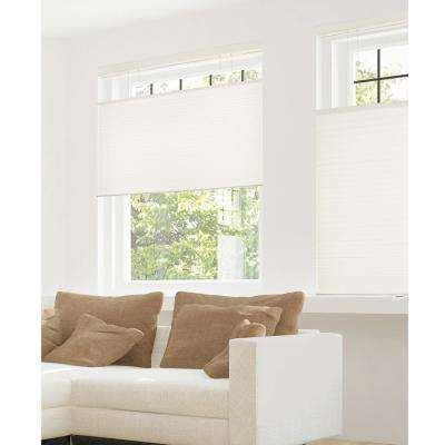 Cut-to-Width Winter White 9/16 in. Privacy and Light Filtering Cordless Cellular Shades - 72 in. W x 72 in. L
